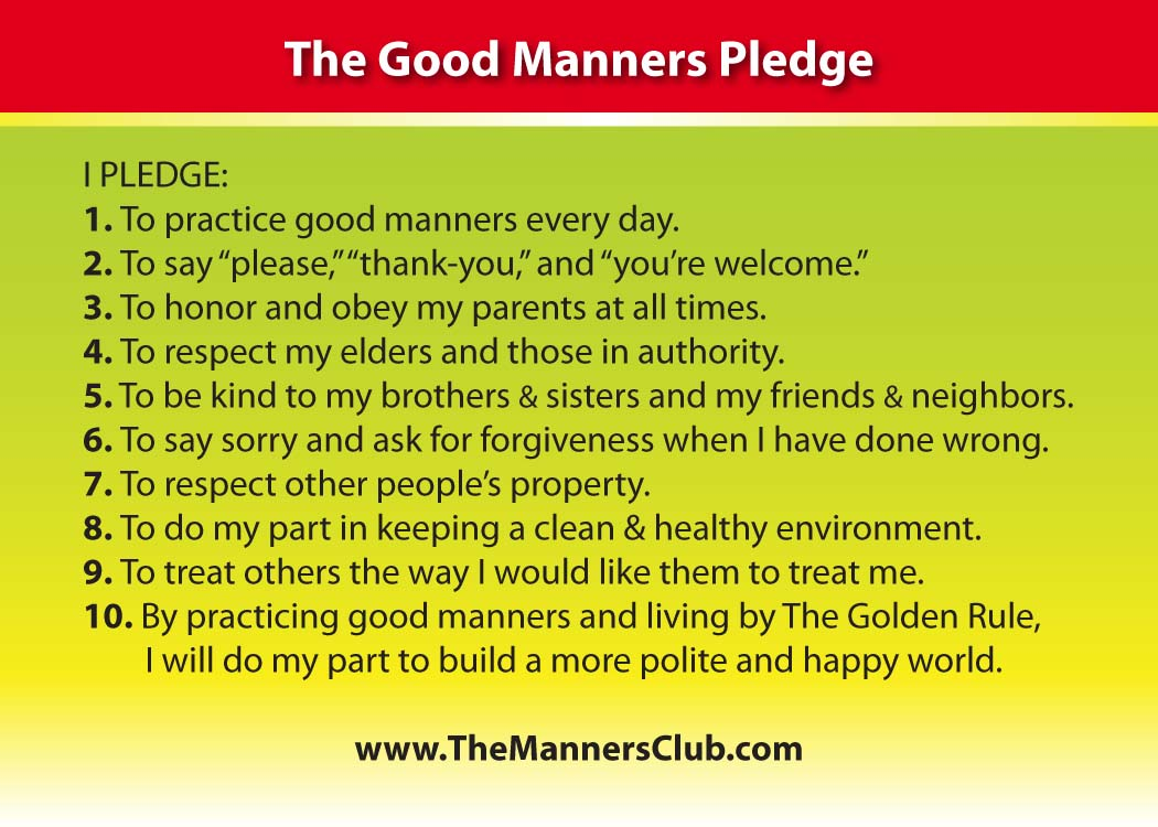 Manners quotes quotesgram for 10 good table manners